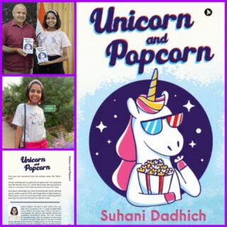 Have you ever wondered what the rainbow tastes like? 🌈   Unicorn and popcorn is a collection of poems that Suhani Dadhich has composed over last five years!! 🦄   *Many many congratulations to the true dreamer- Suhani Dadhich*   Your are a precious part of Guides family and we're proud of you!! 👏🏻👏🏻